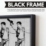 han solo wall art black frame