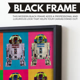 r2D2 Droid wall art black frame