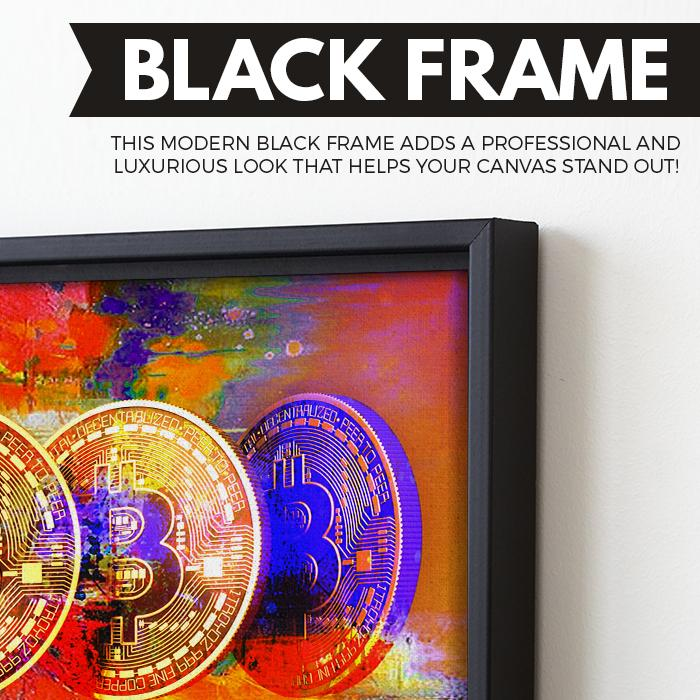 Bitcoin Power wall art black frame
