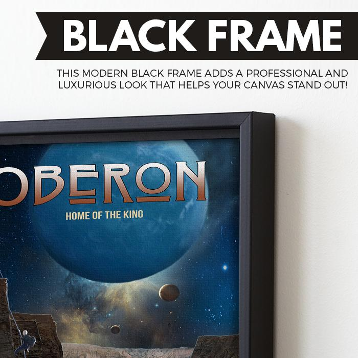 Oberon - Home of the King wall art black frame