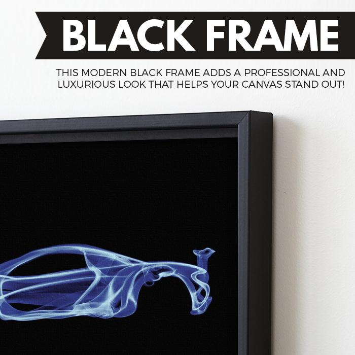 McLaren P1 wall art black frame