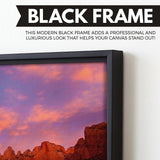 Towers of Virgin - Zion Canyon National Park wall art black floating frame