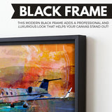 Jet Dreams wall art black frame