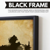 The Return of the King wall art black frame