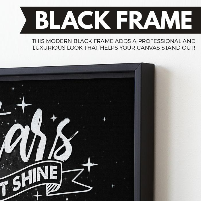 Stars Can't Shine Without Darkness wall art black frame