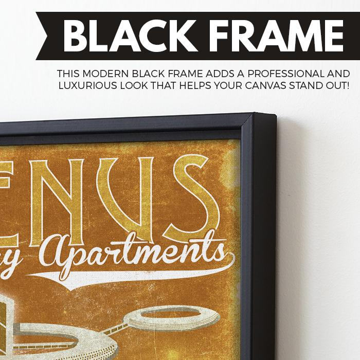 Venus - Futuristic Planet Series wall art black frame