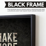 Make More Money wall art black frame