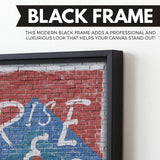 Rise And Grind wall art black frame