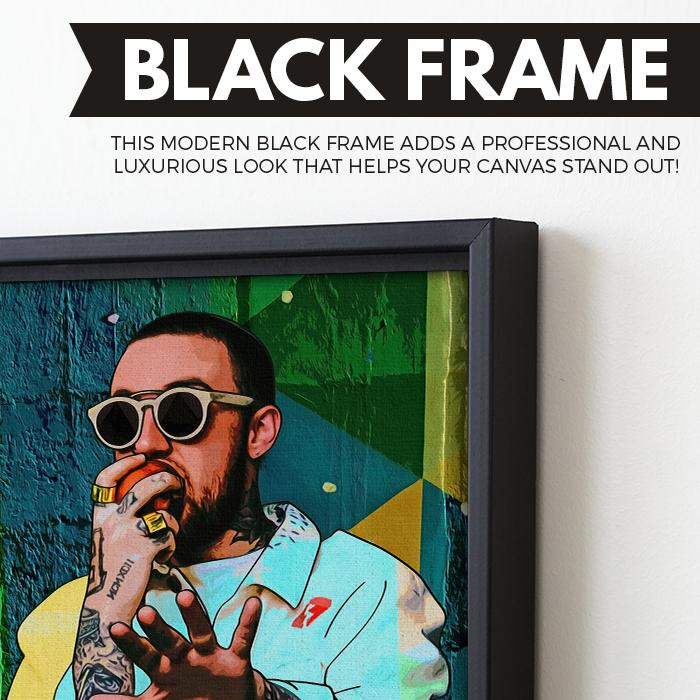 Mac Miller wall art black frame