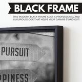 I'm On The Pursuit Of Happiness wall art black frame