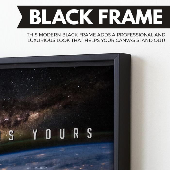 The World Is Yours wall art black frame