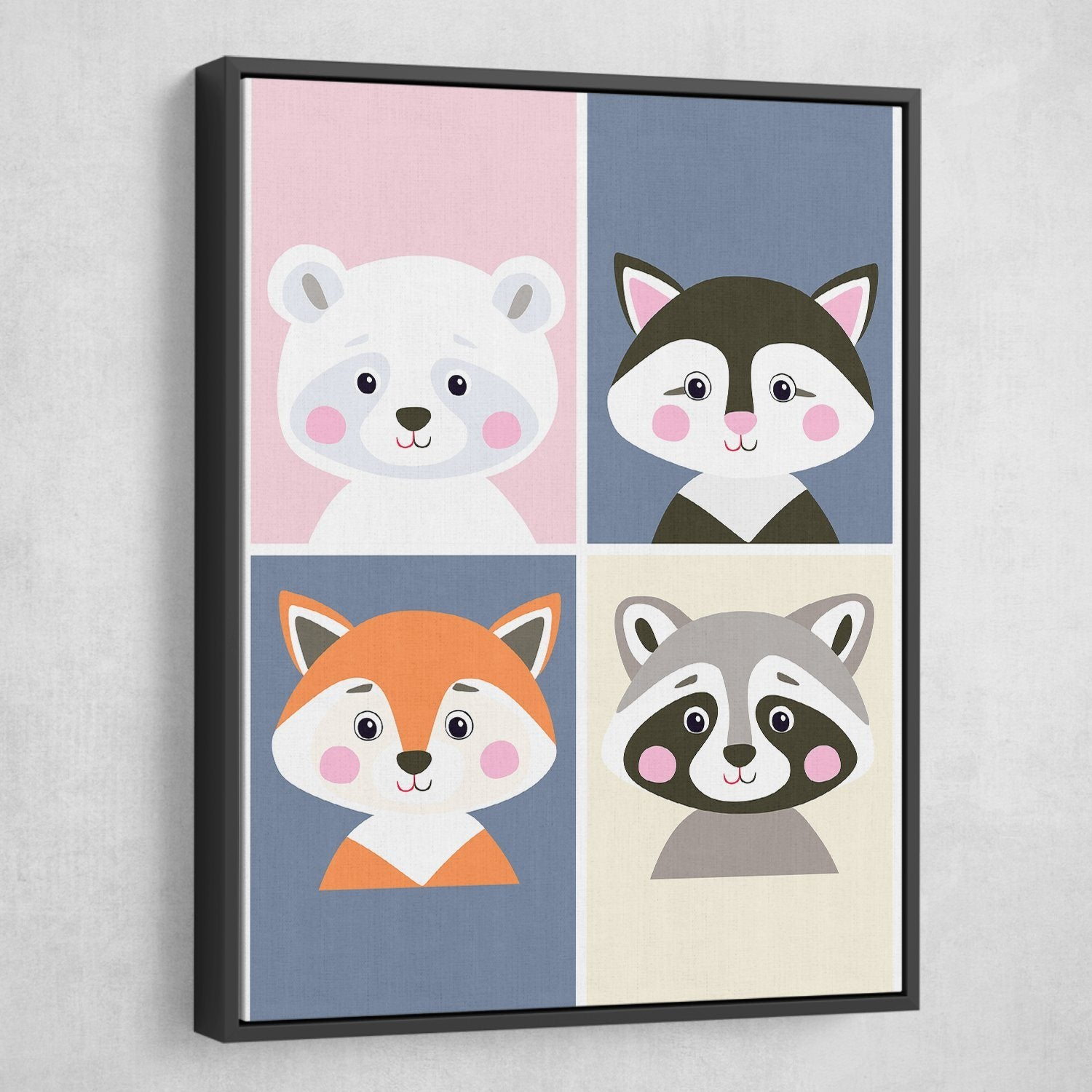 Children Cartoon wall art black frame