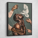 black man painting art