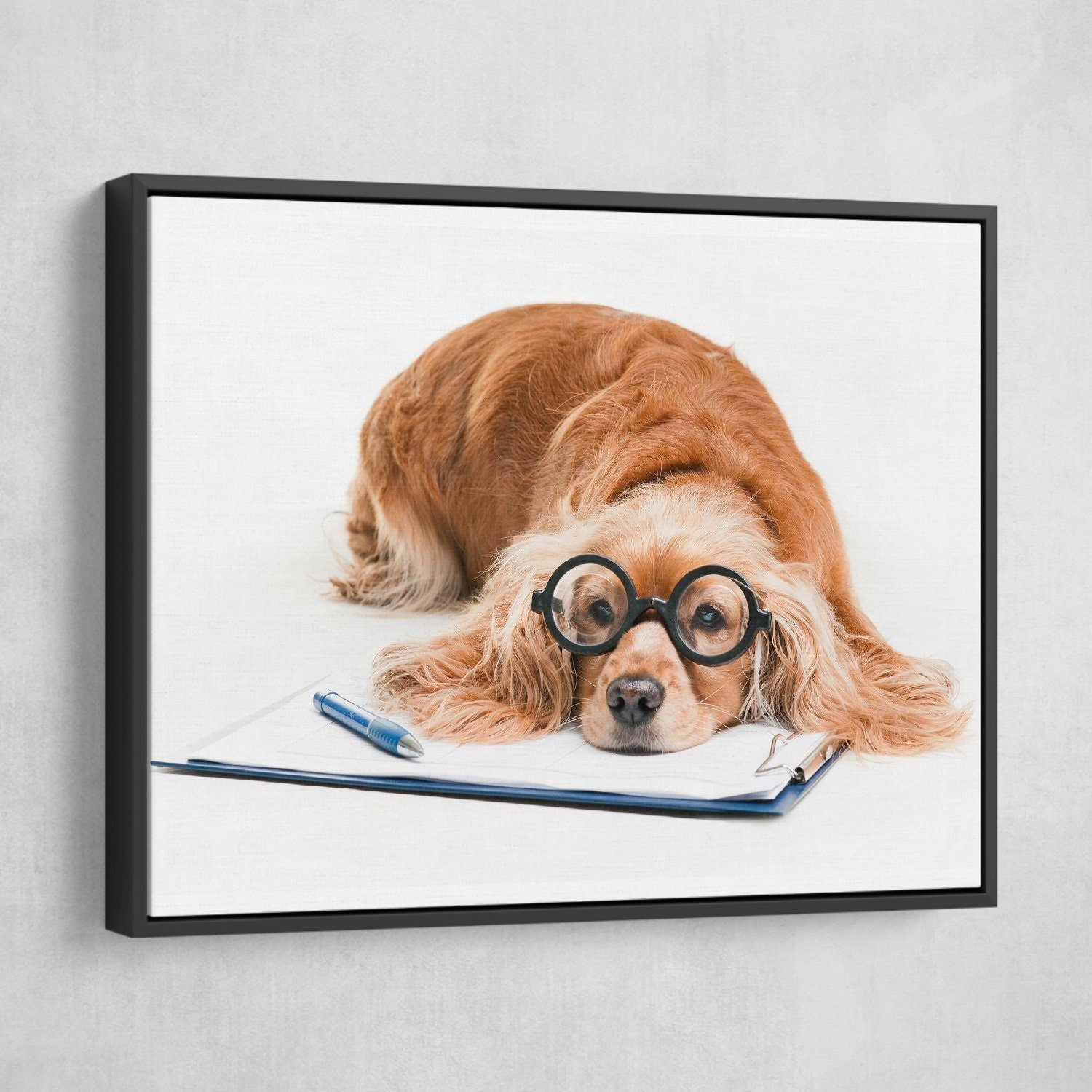 Cocker Spaniel wall art black frame