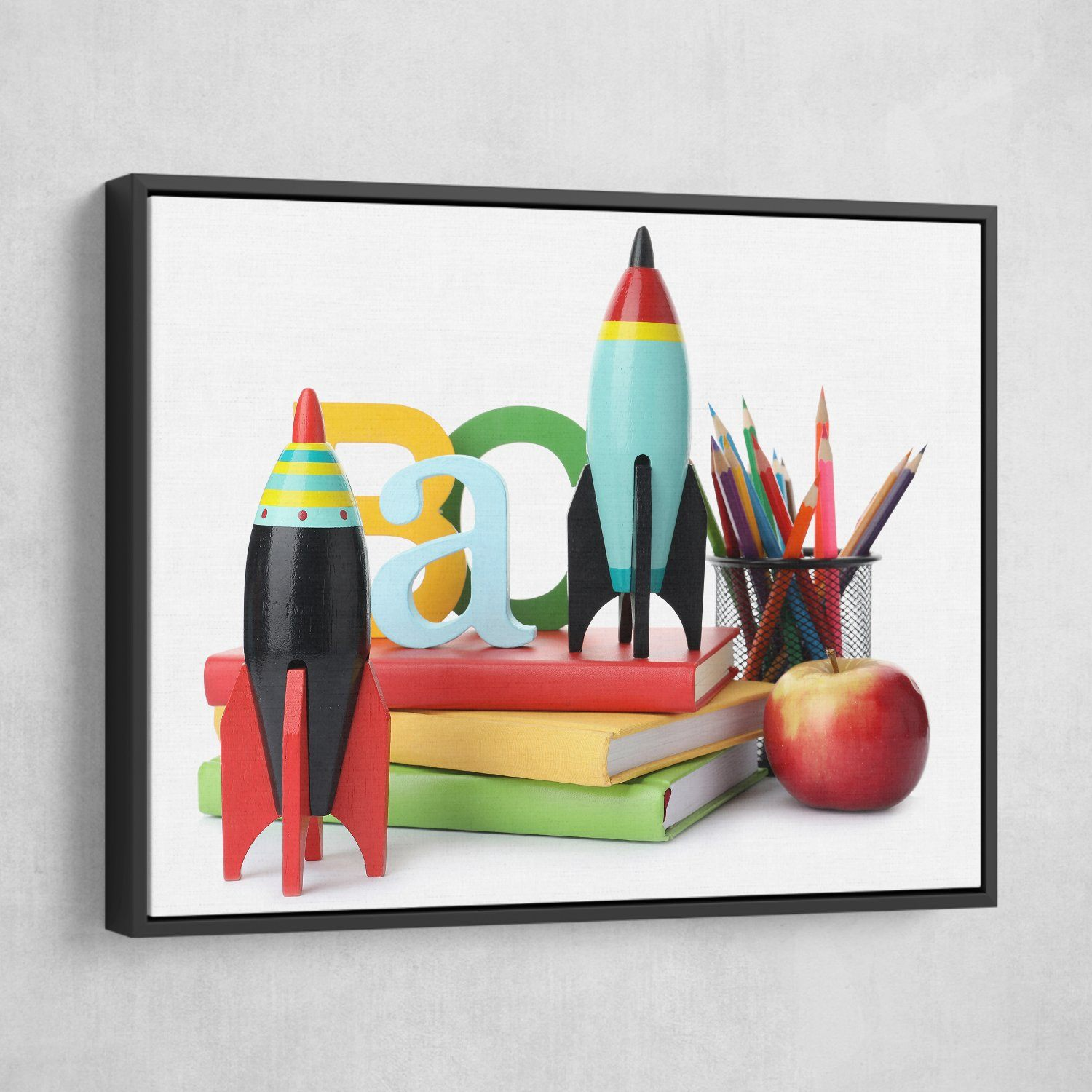 Rockets wall art black frame