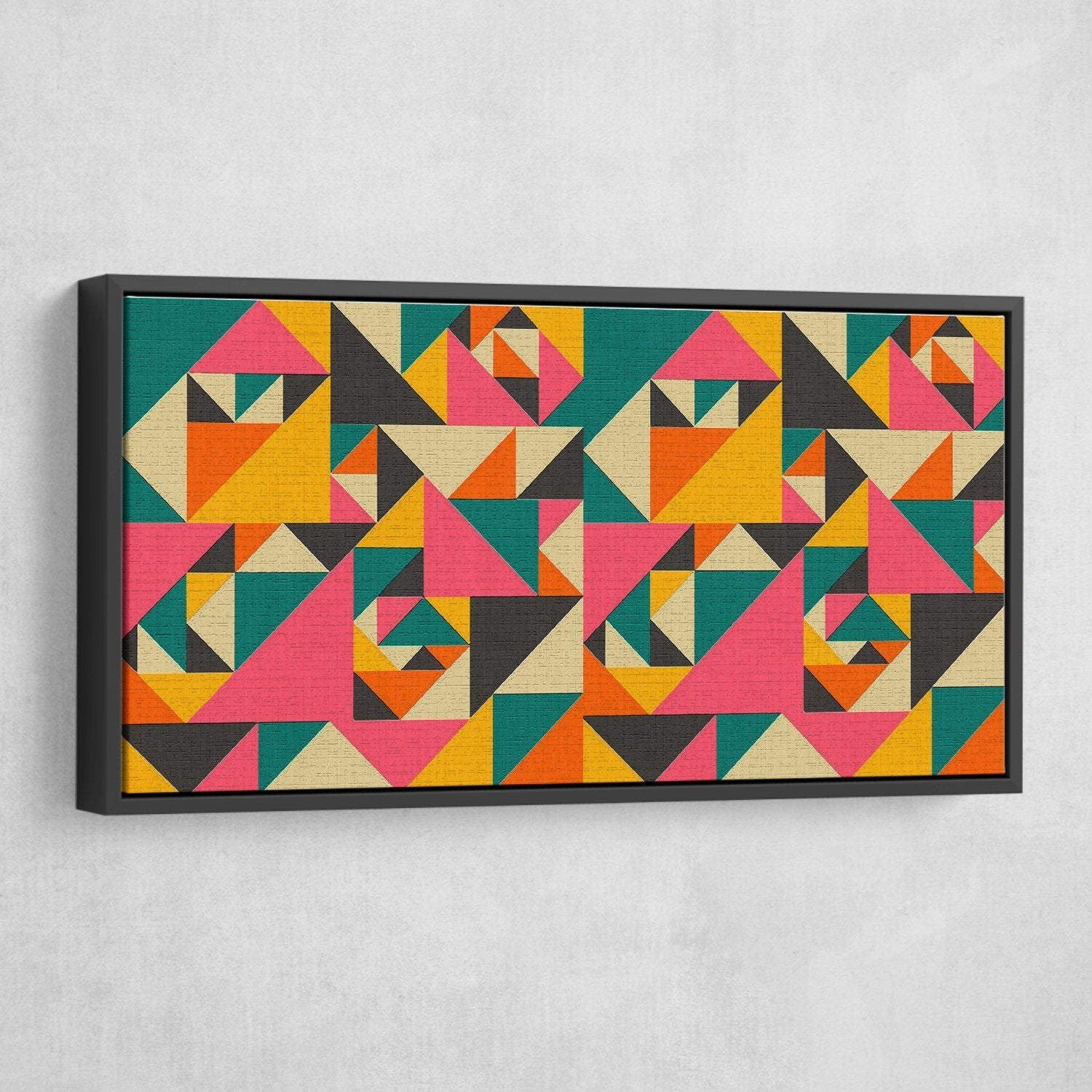 Vibrant Spectacle abstract wall art black frame