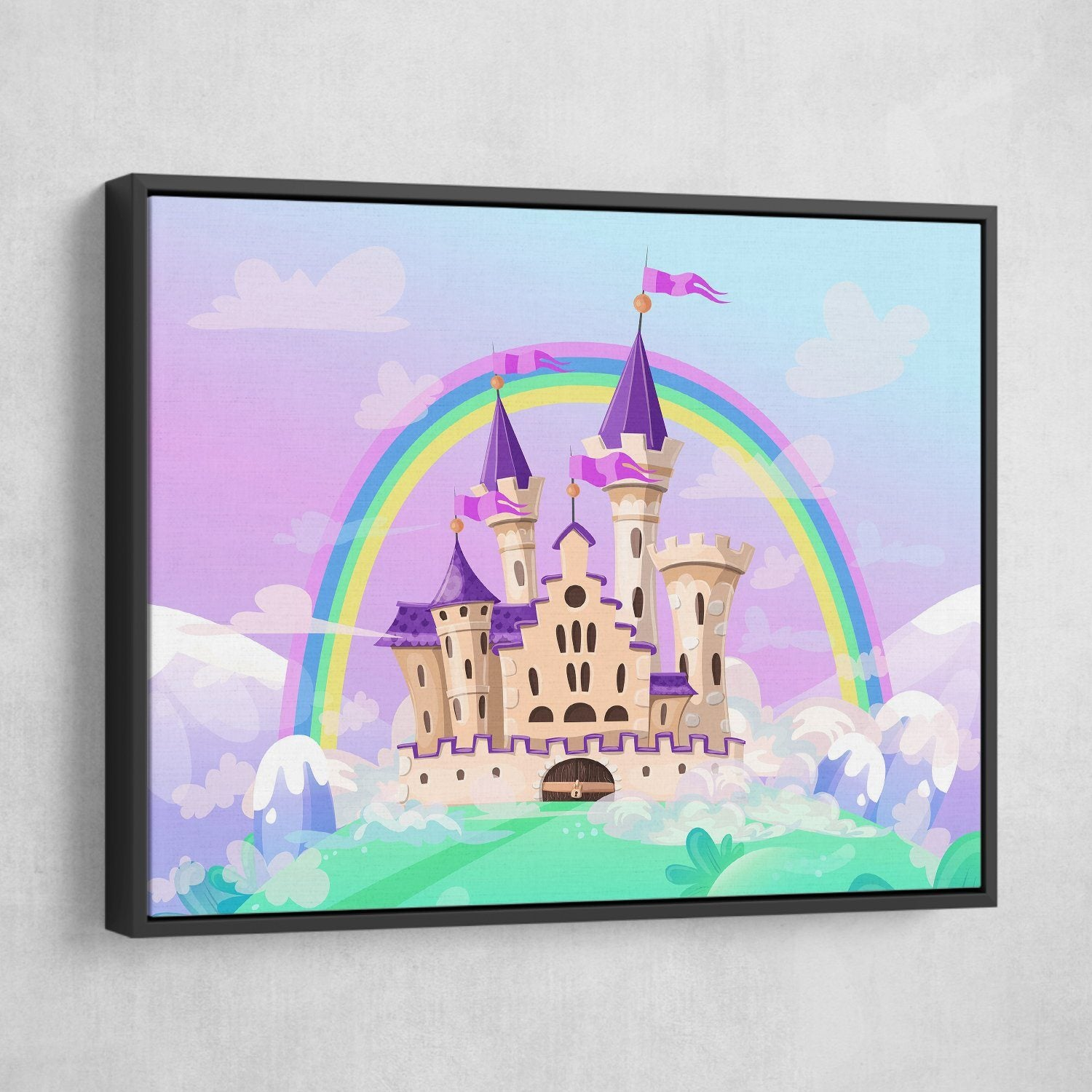 FairyTale Palace wall art black frame