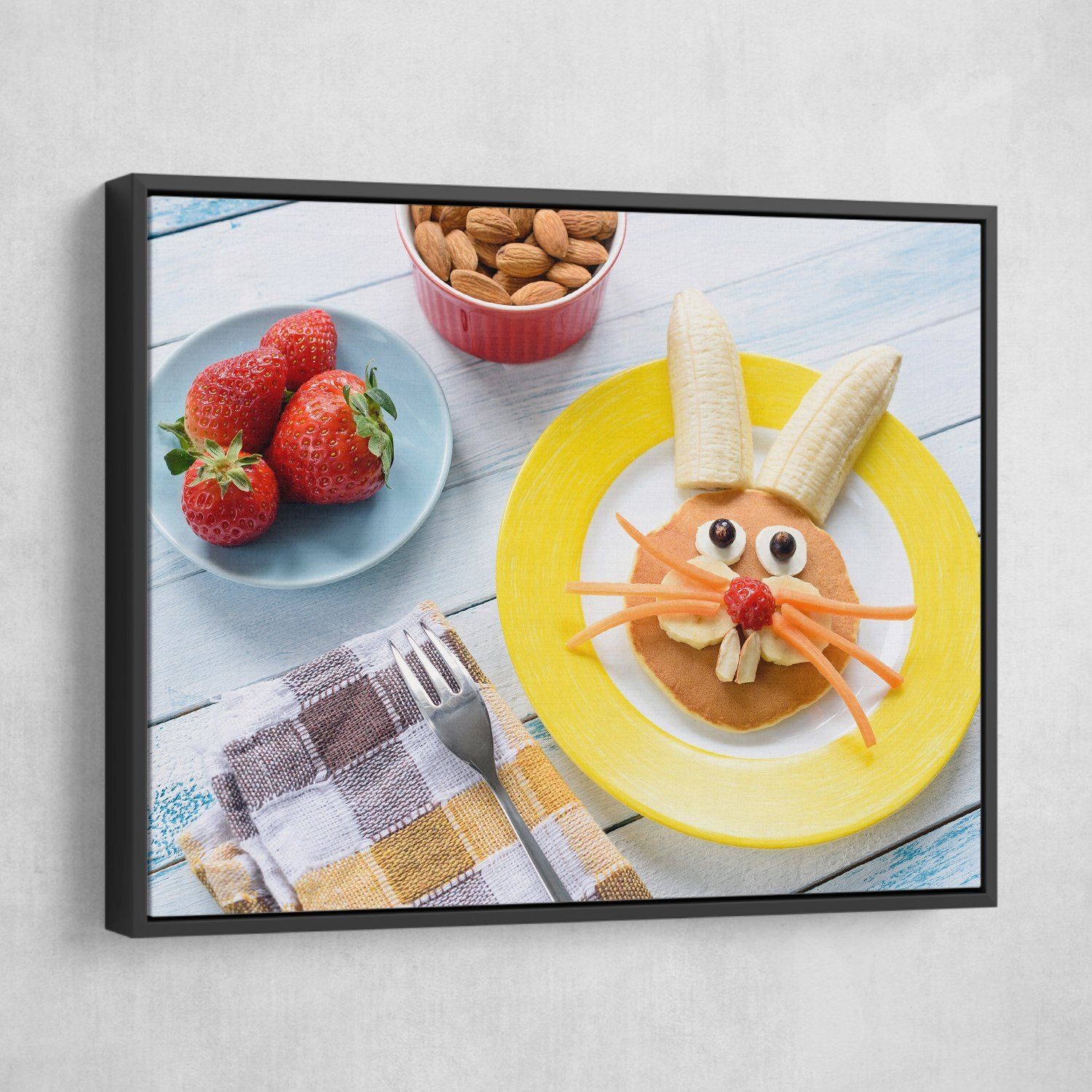 Happy Meal wall art black floating frame