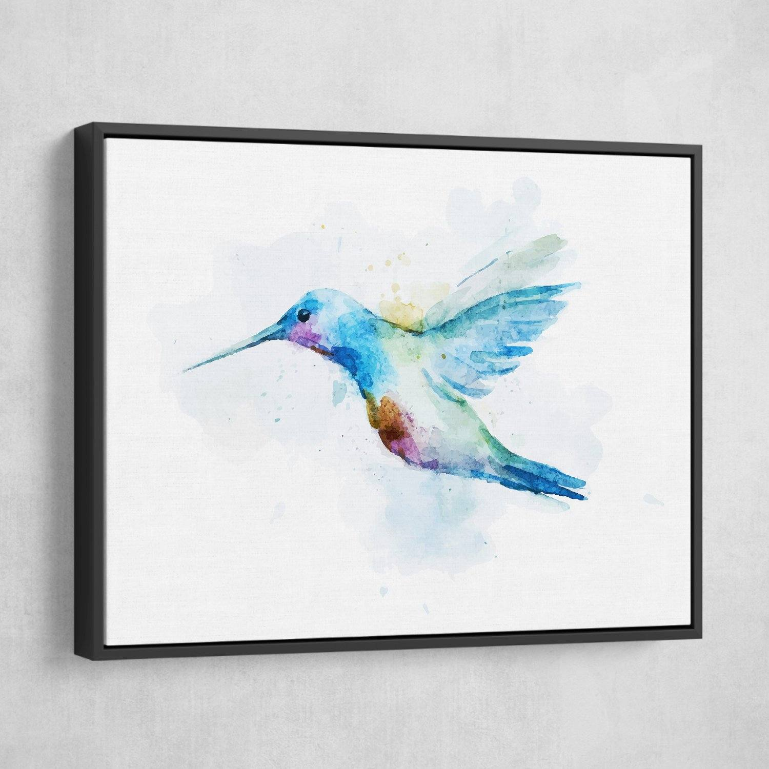 Watercolor bird wall art with frame