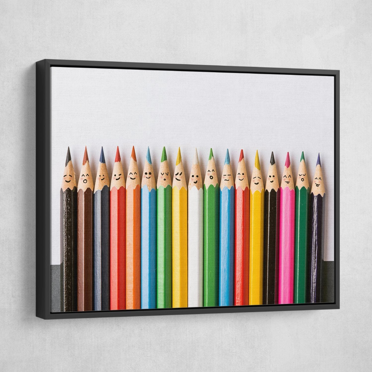 Happy Pencils black frame