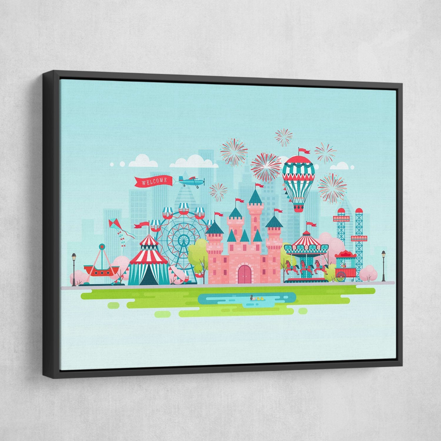 Dream Castle wall art black frame