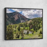 Yellowstone National Park wall art black frame