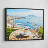 Cup of coffee wall art black frame