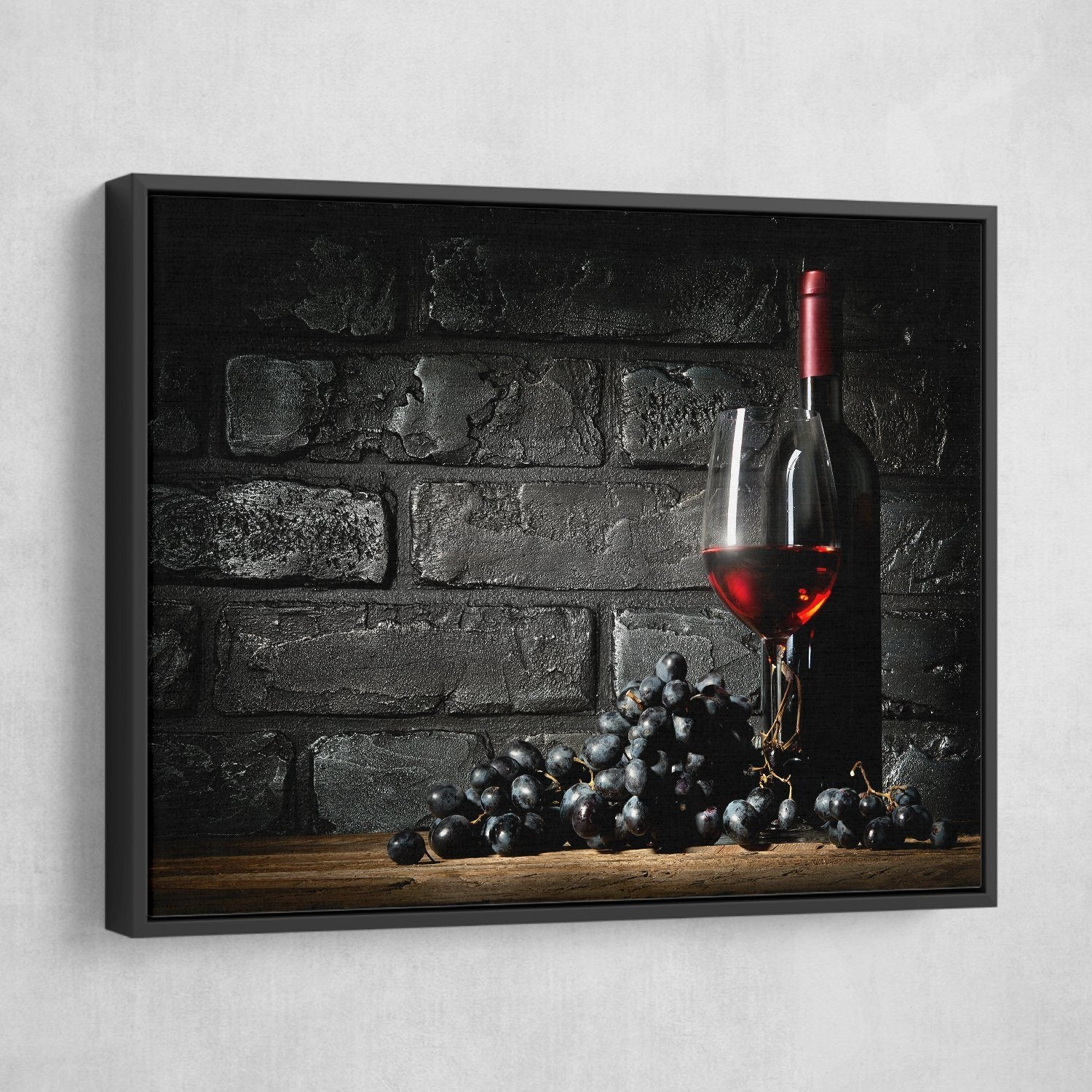 floating frame Wine wall art