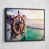 Issyk Kul Lake wall art black floating frame