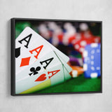 playing card games wall art black frame