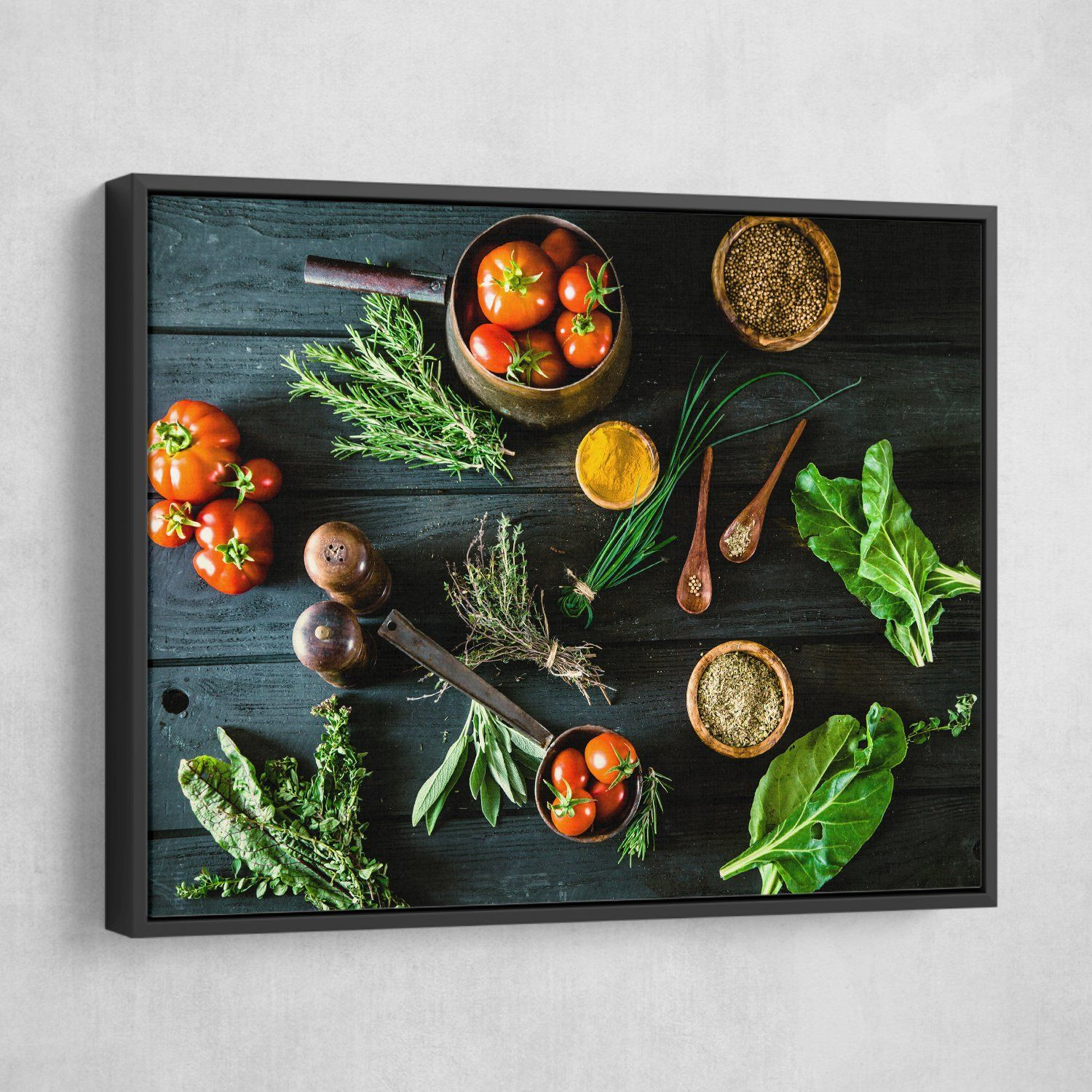 Bio Healthy Food wall art black frame