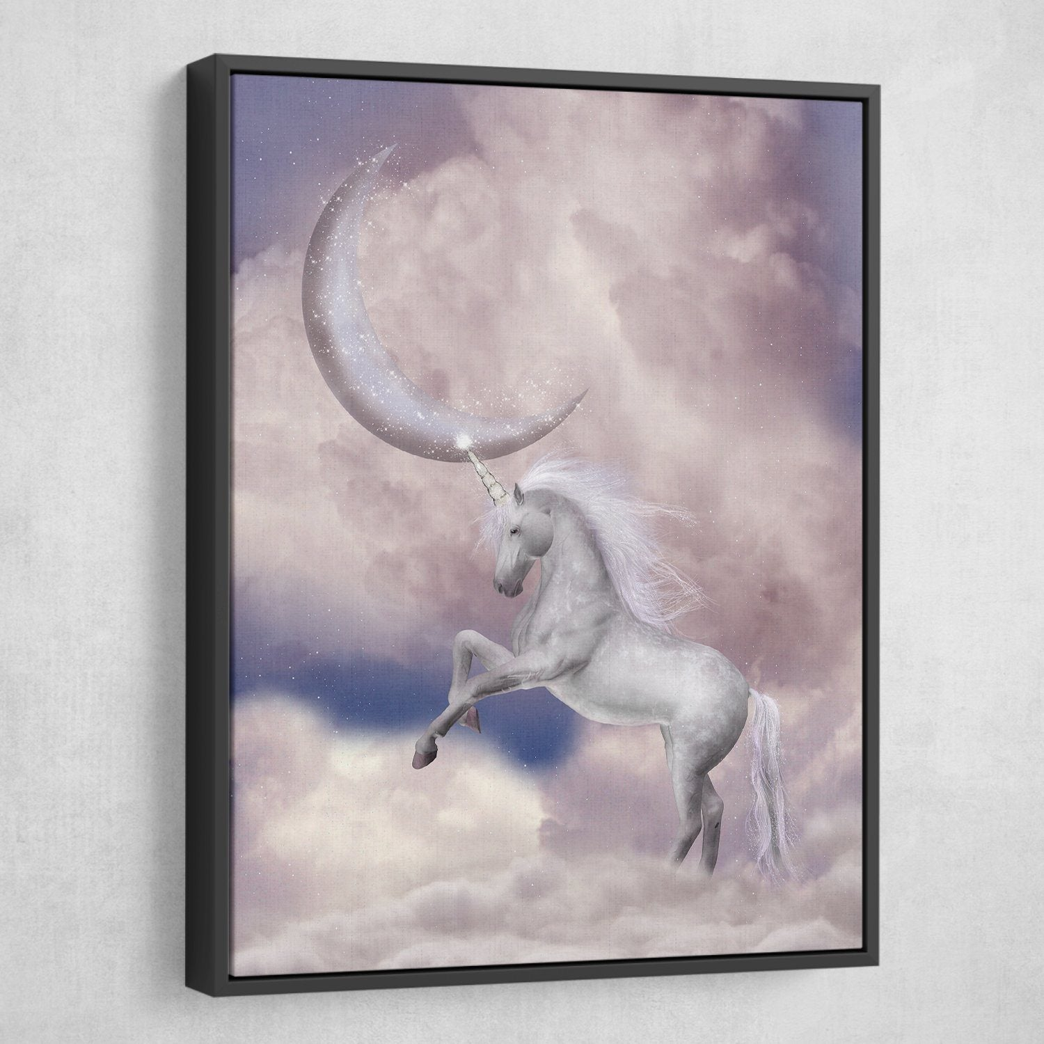 Unicorn wall art black frame