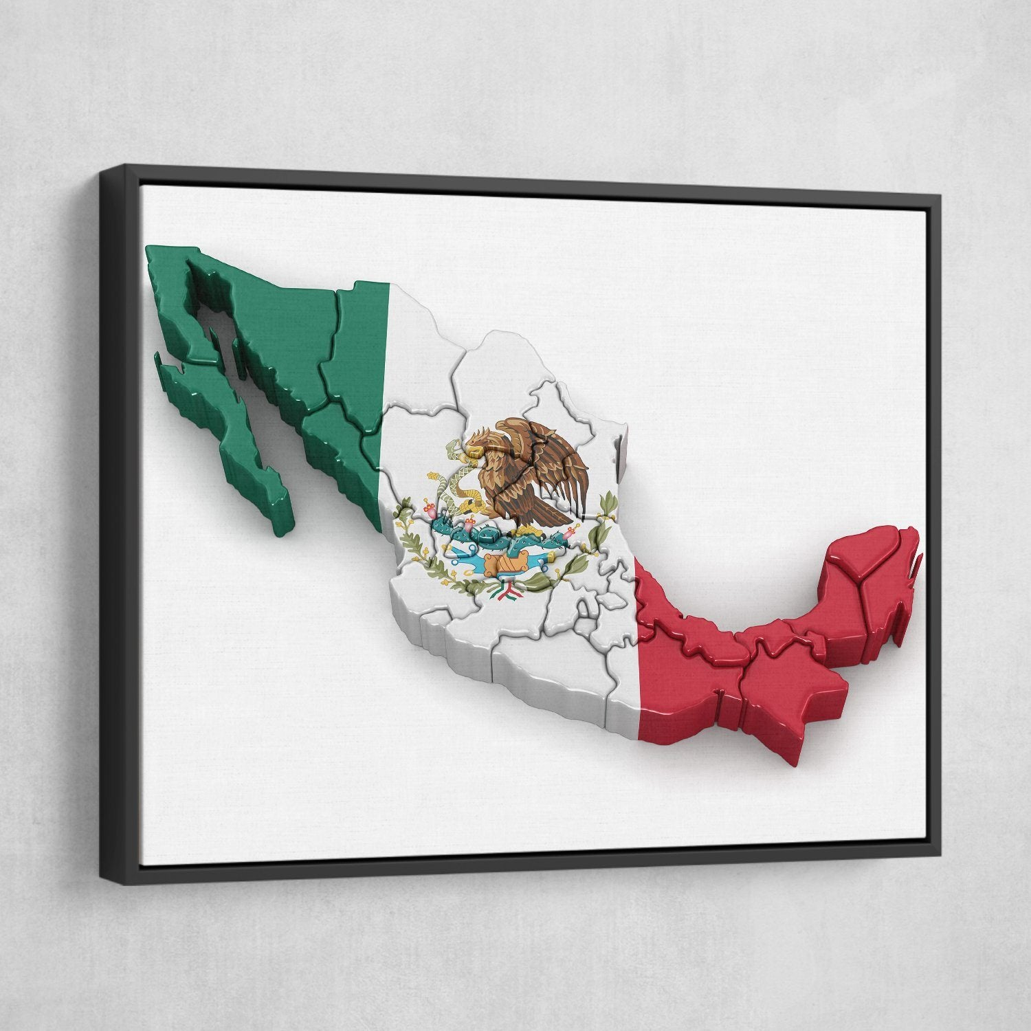Mexico wall art black frame