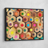Colored Pencils wall art black frame