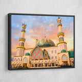 slam mosque wall art black frame