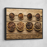 Coffee Beans wall art black floating frame