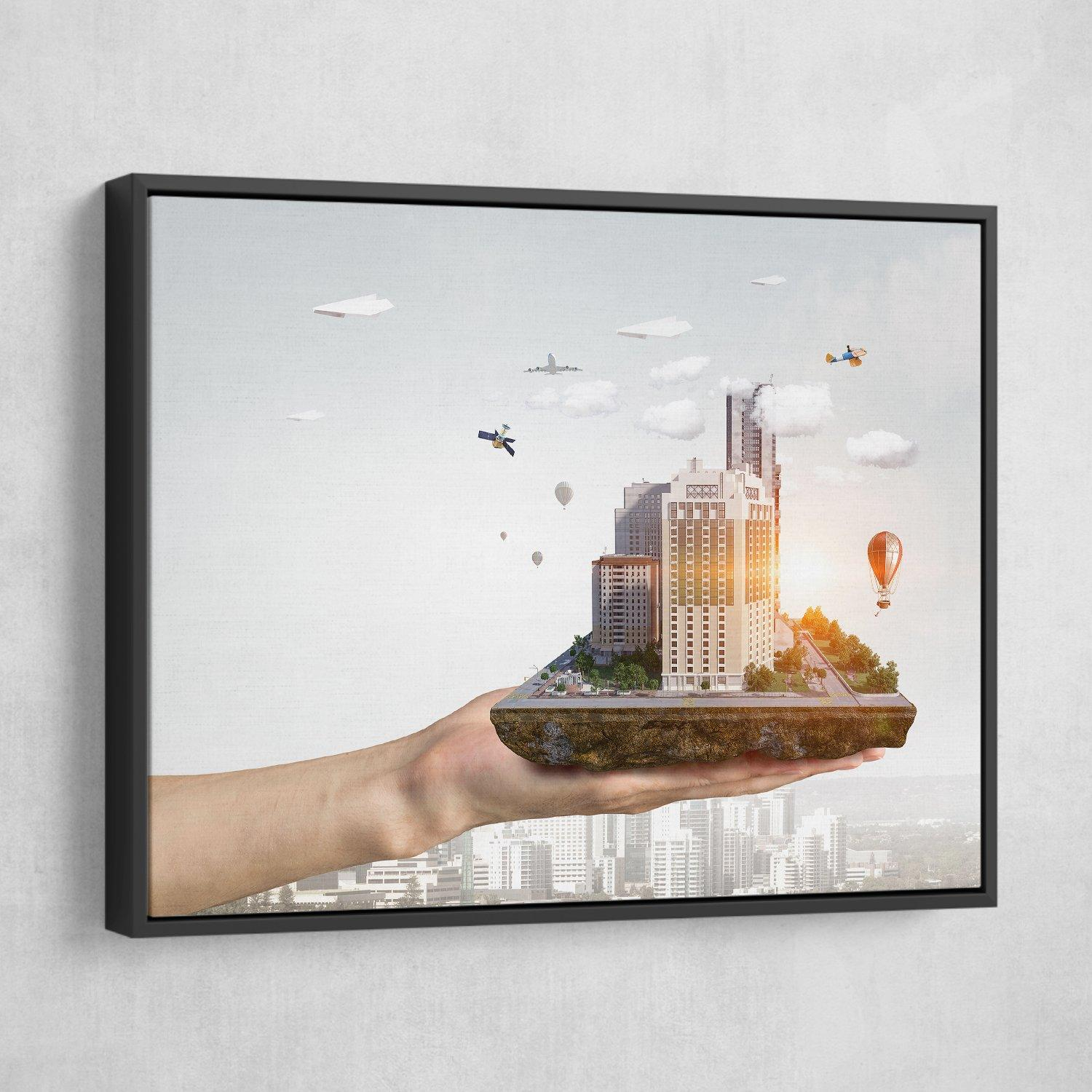 In the Palm of Your Hand wall art black frame