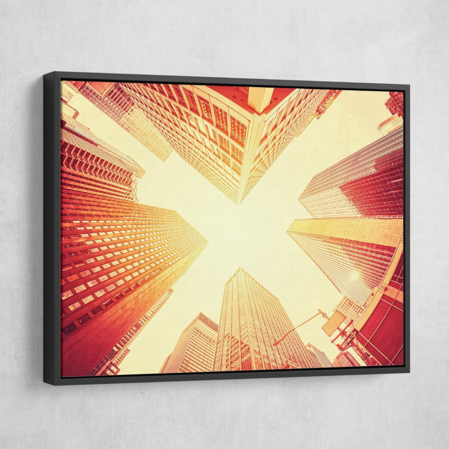 Manhattan wall art black frame