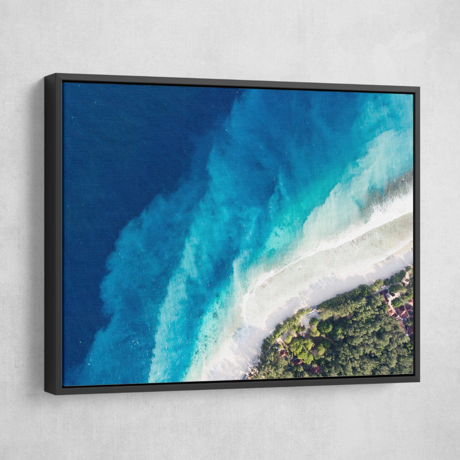 Top of the seabed wall art black frame