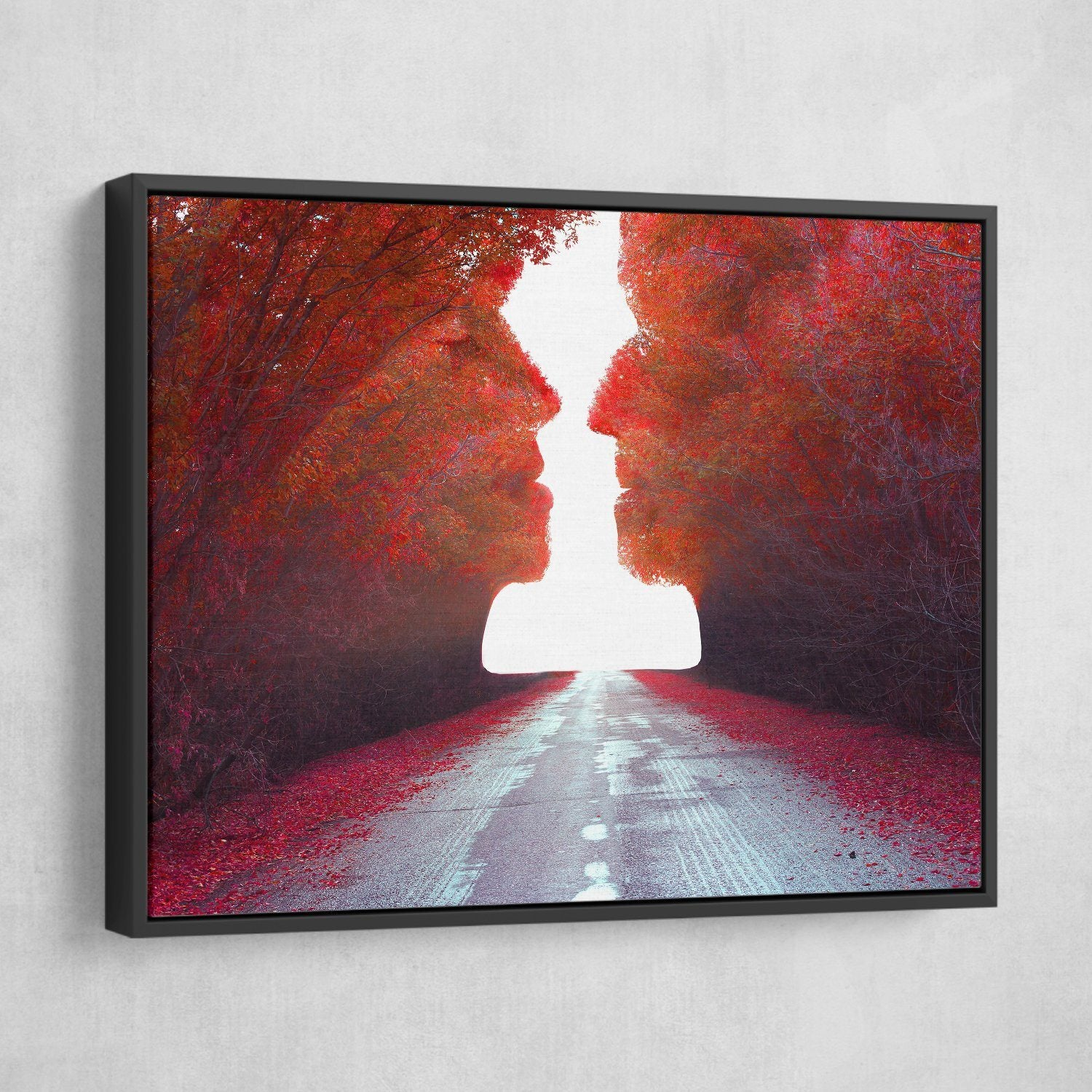 Road to Love wall art black frame