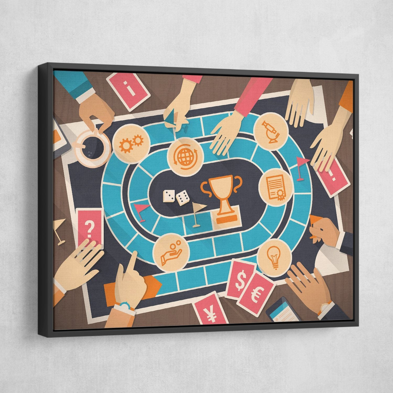Board Game wall art black frame