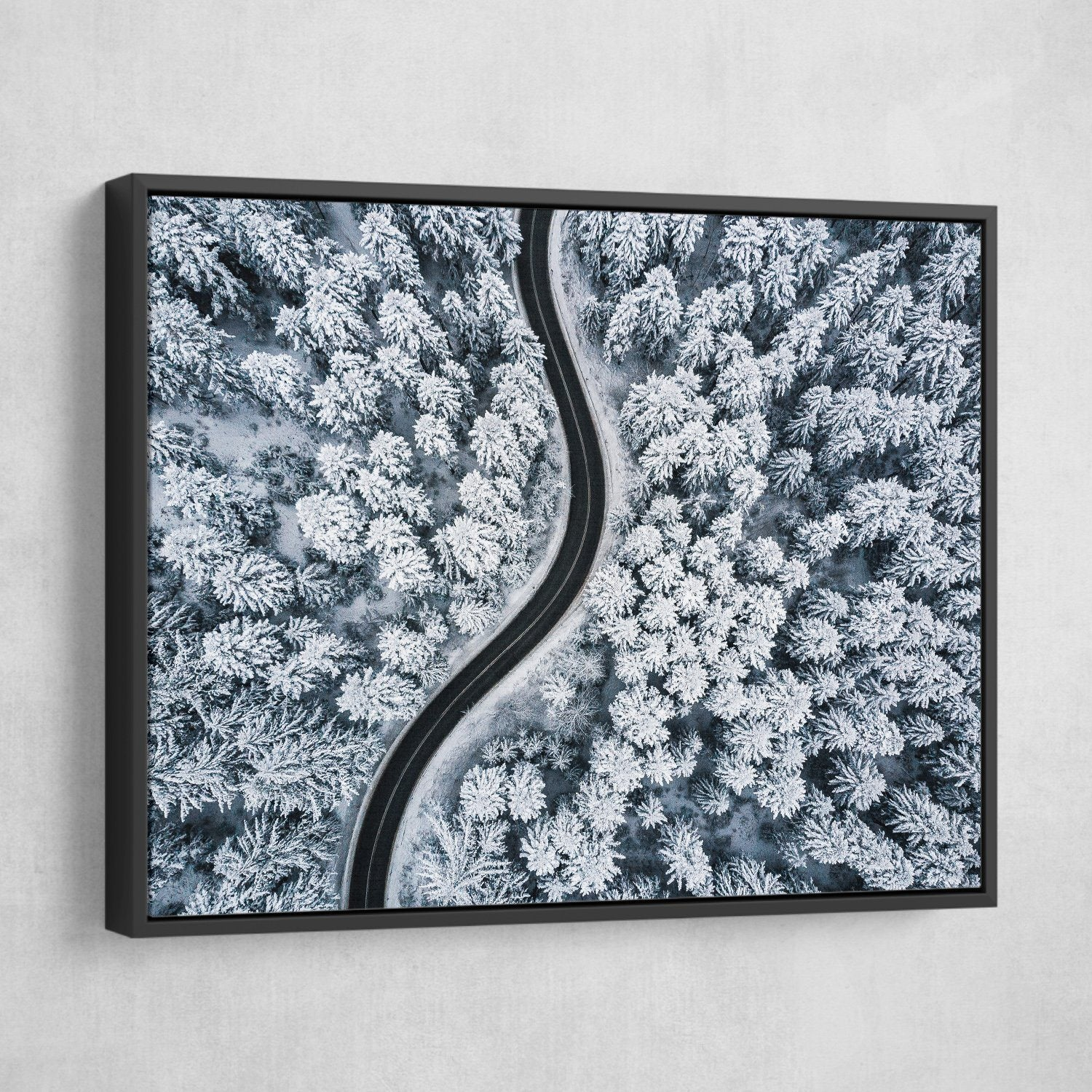Snow Forest wall art black frame