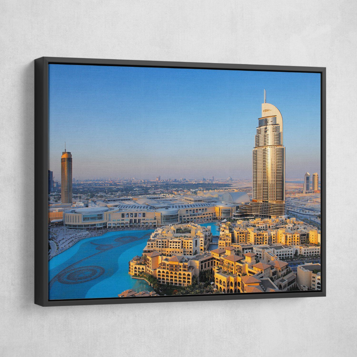 Downtown Dubai wall art black frame