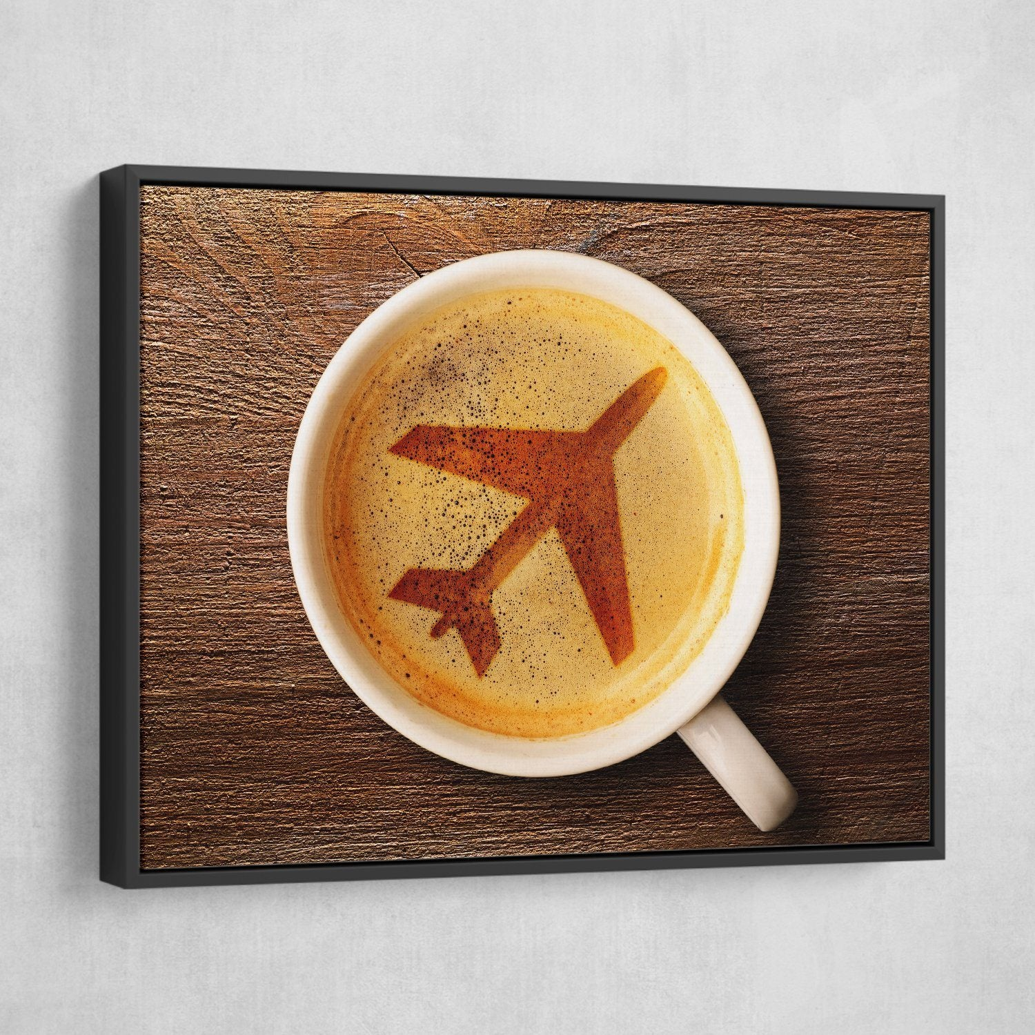 airplane coffee wall art
