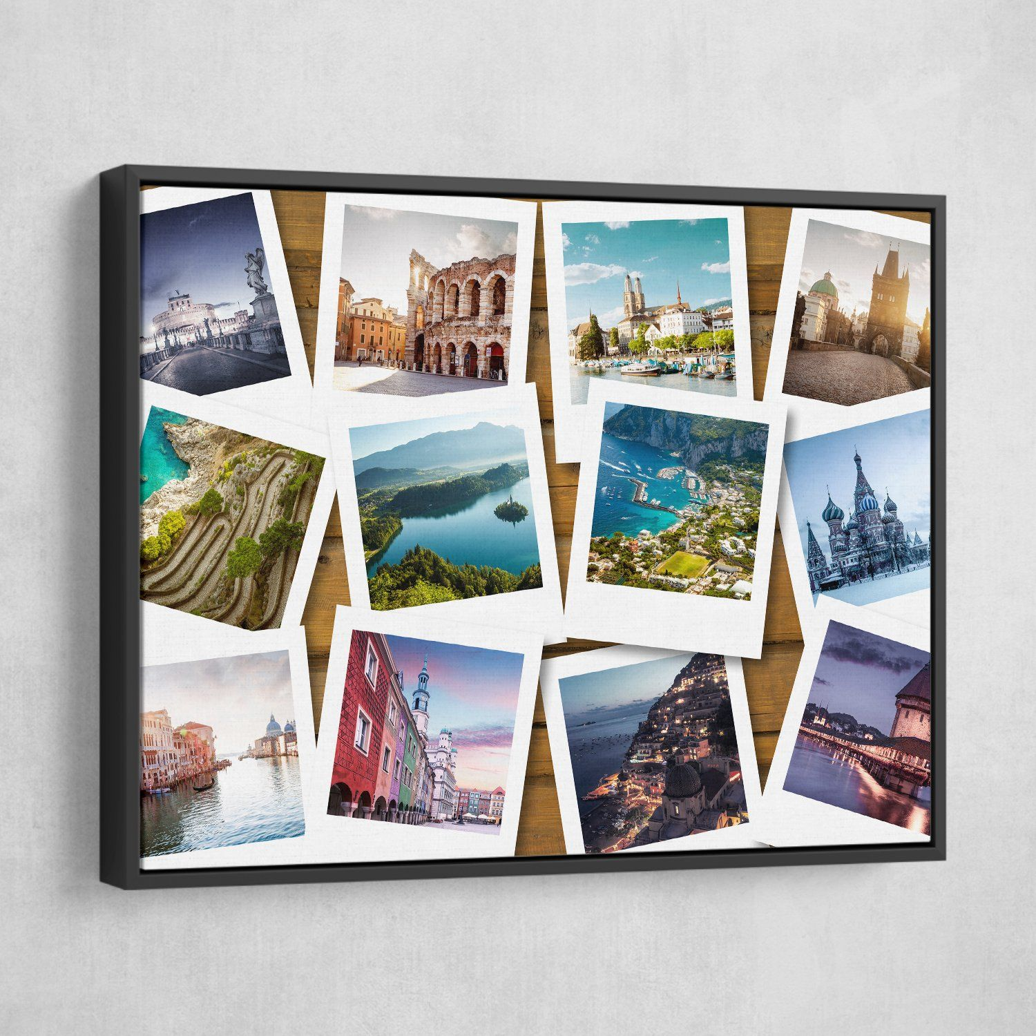 travel bucket list wall art black frame
