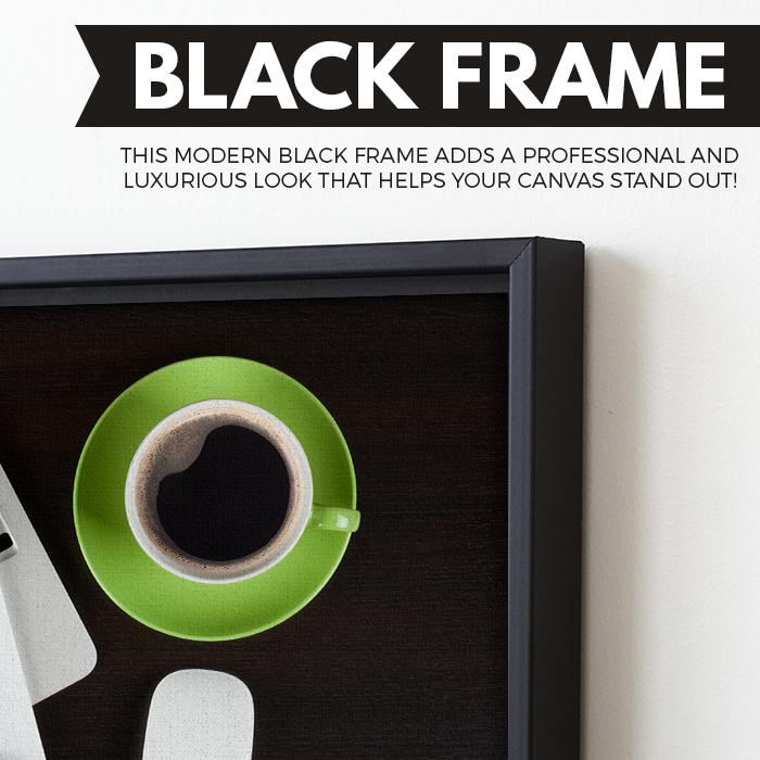 Coffee Break wall art black frame