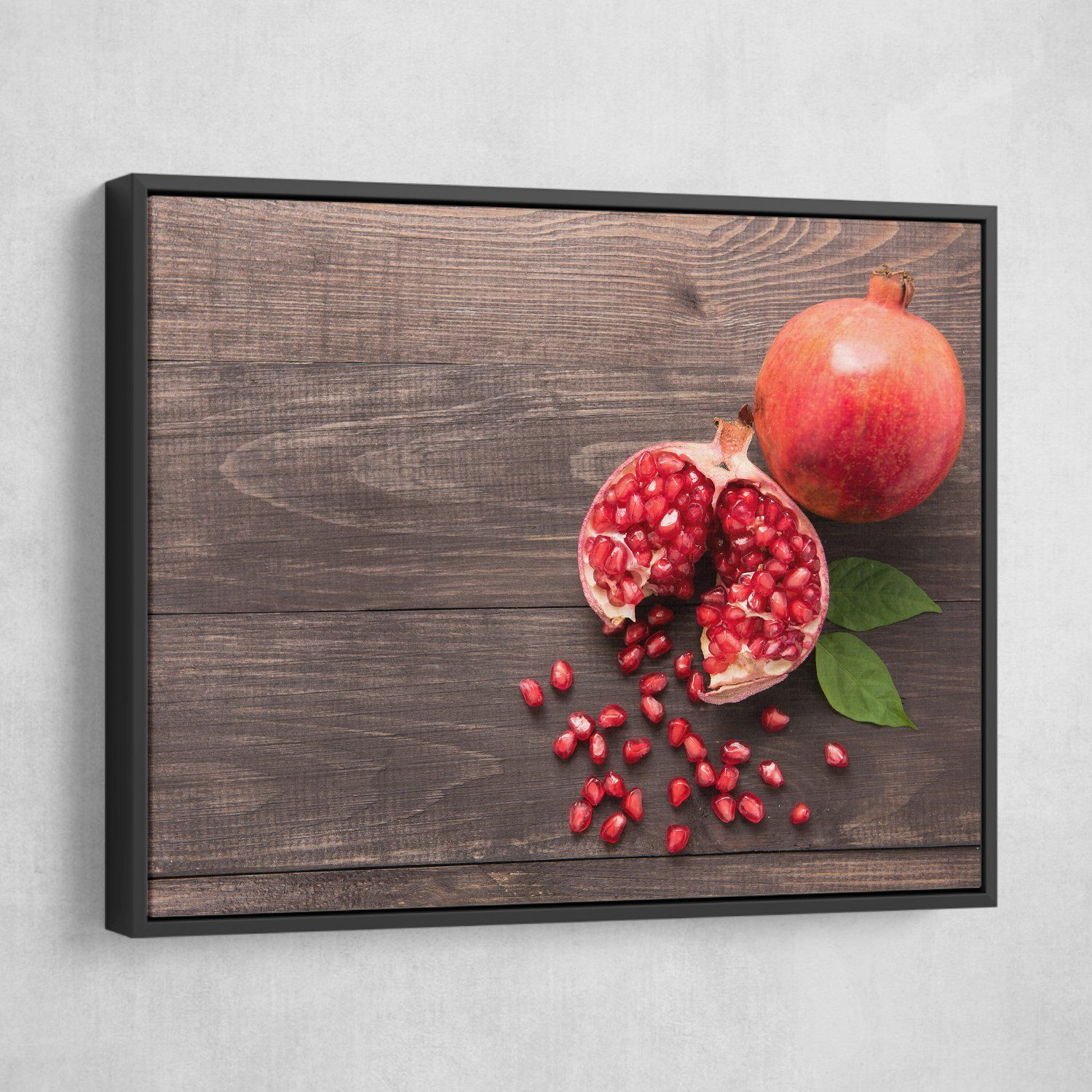 Pomegranate wall art black frame
