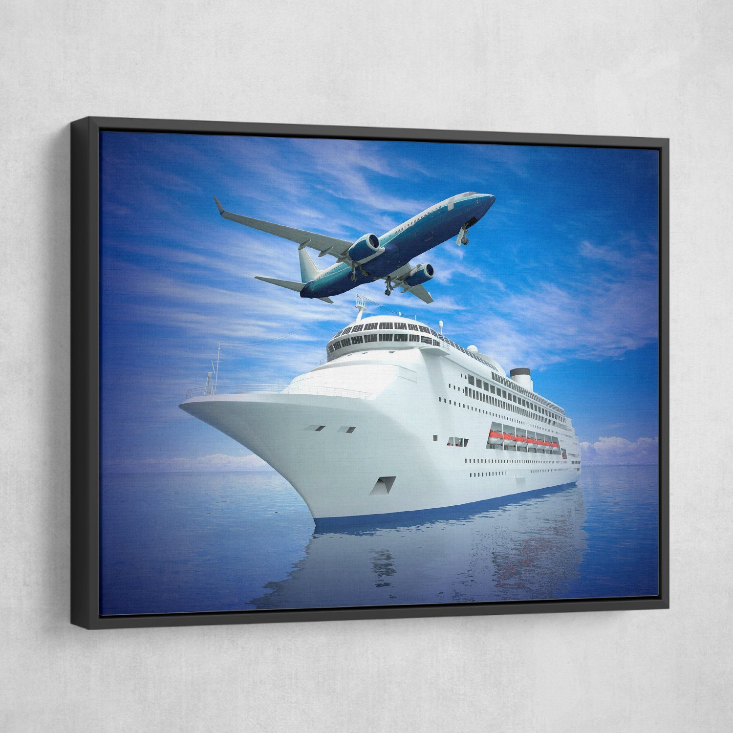 airplane cruise ship wall art