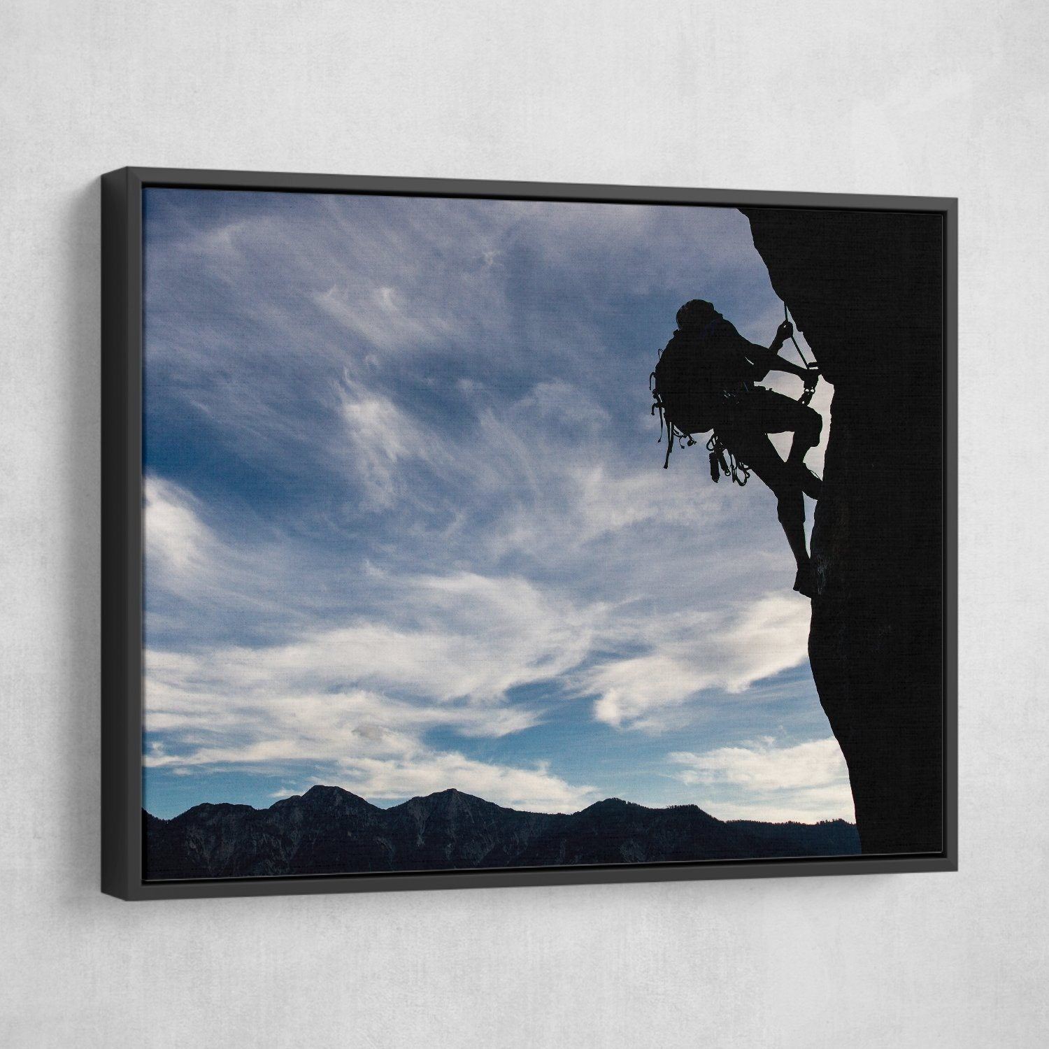 Mountain Climber wall art black frame