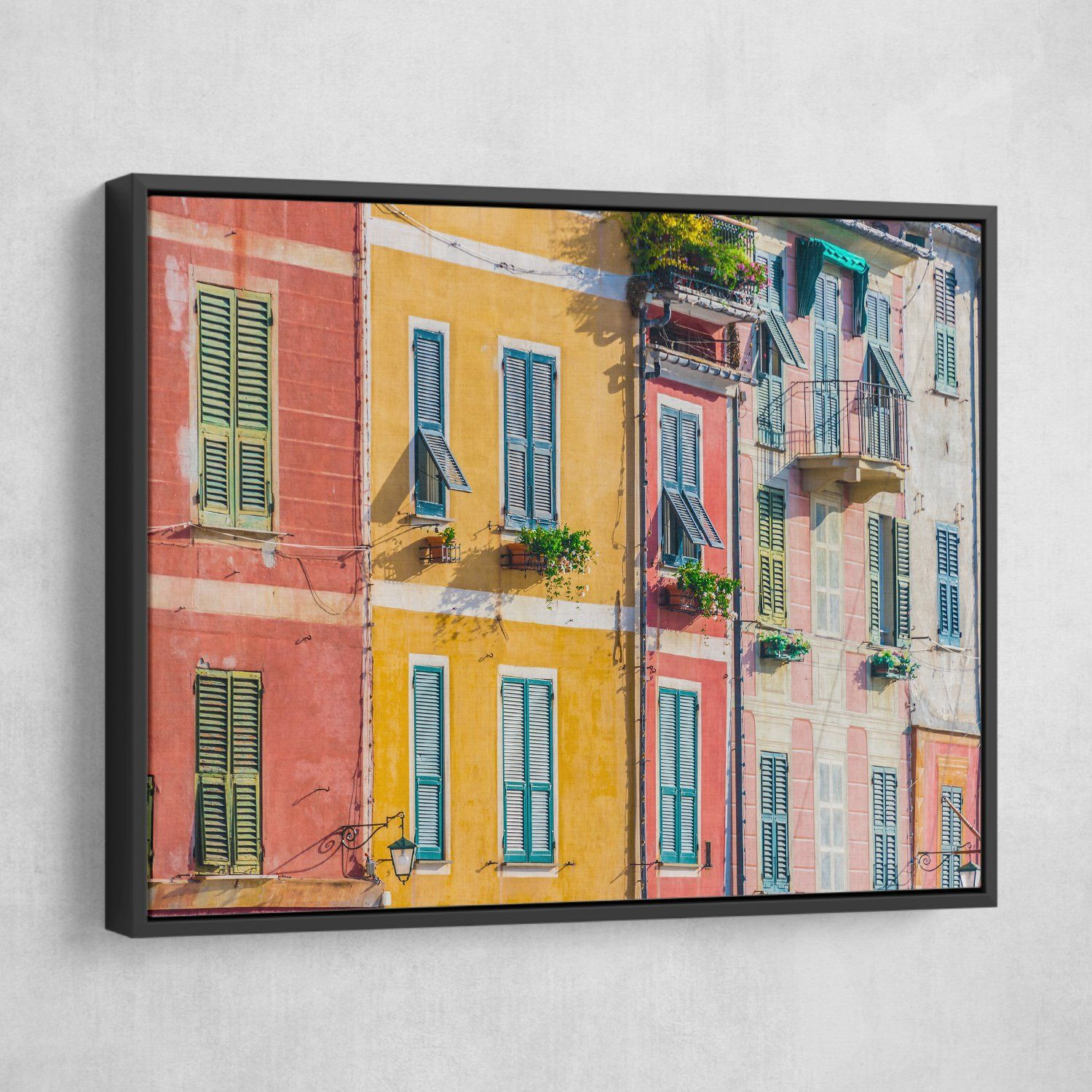 Architecture in Italy wall art black frame